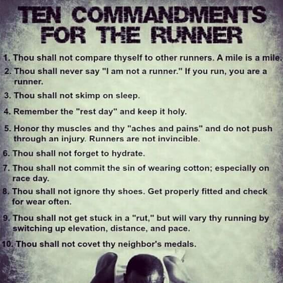 recover ten commandments runners spectators